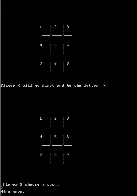 Tic Tac Toe Game : Console based Tic tac toe Java Program