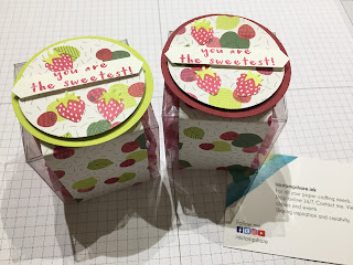 Table Favours using the Tutti Fruitti Papers and Fruit Basket Stamps