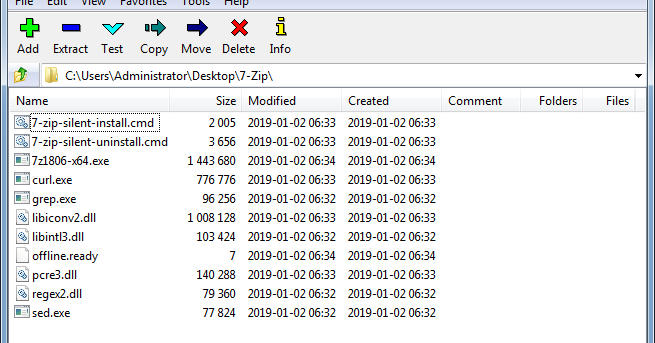 7-Zip 18 06 silent native install, auto download, detection