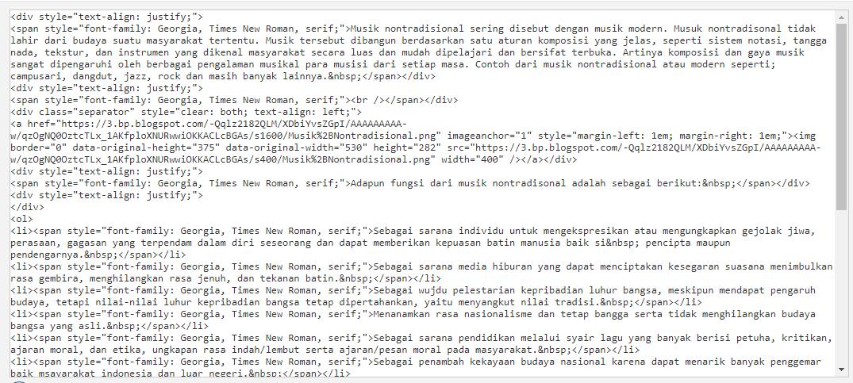 Cara Menulis Postingan Mode HTML Dengan Tag P SEO Firendly