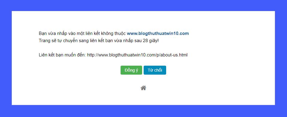 Hướng dẫn tạo trang chờ chuyển hướng tự động cho blogspot