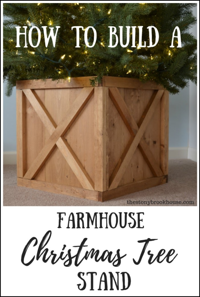 How To Build A Farmhouse Christmas Tree Stand