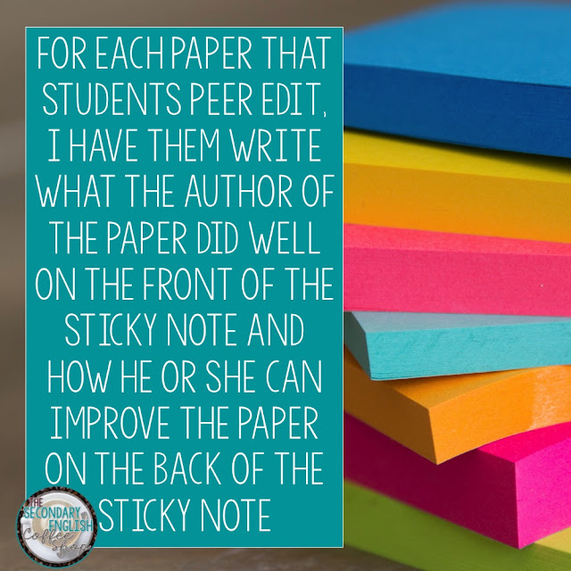 7 Ways to teach secondary ELA with sticky notes