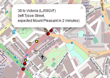 Live London Bus Map