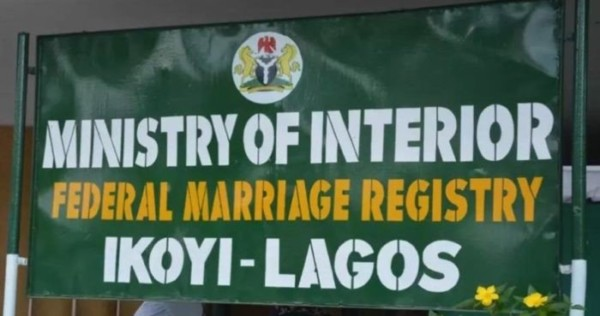 Marriages conducted by Ikoyi registry not legally binding