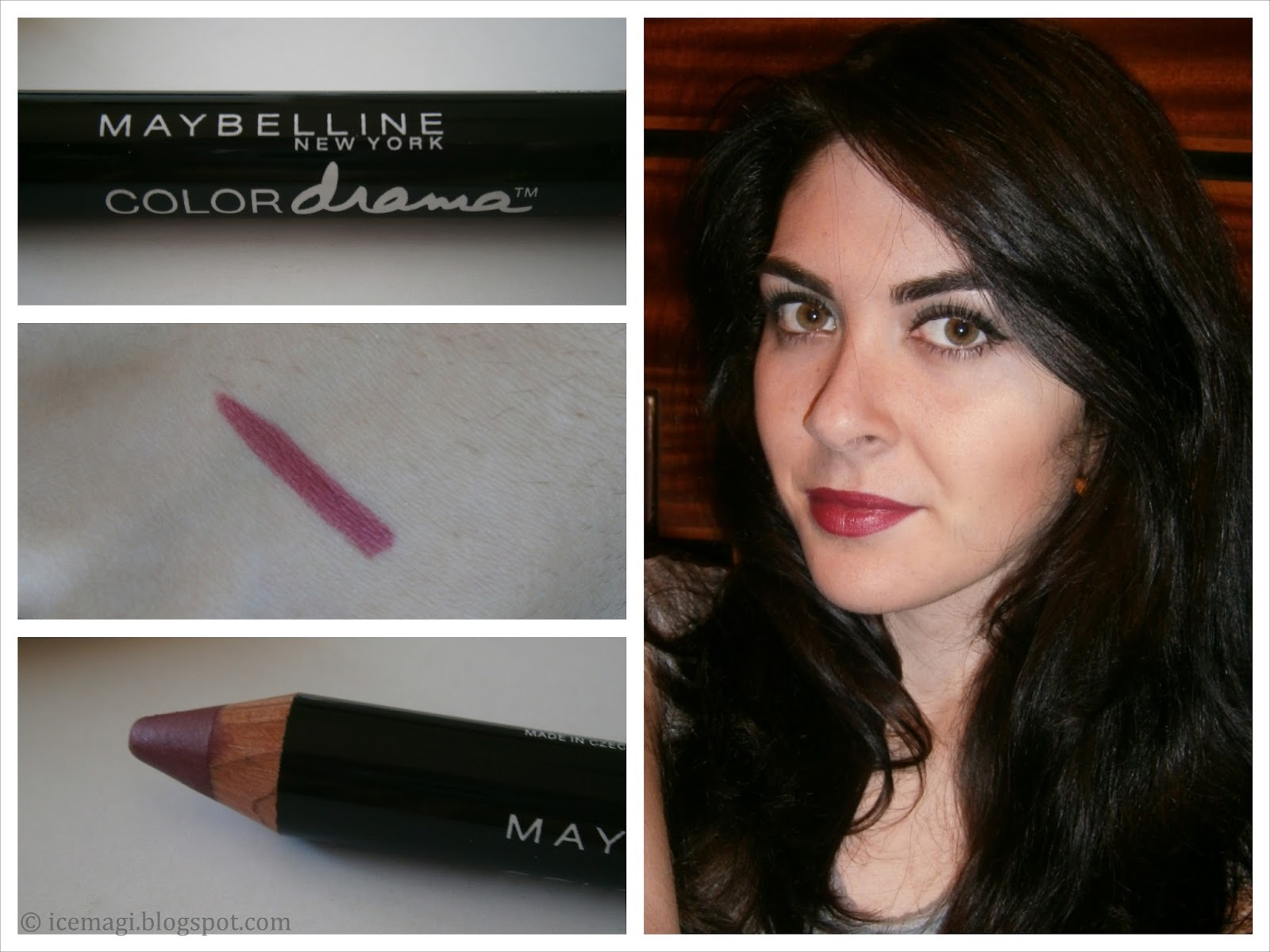 Maybelline Color Drama lip pencil swatch
