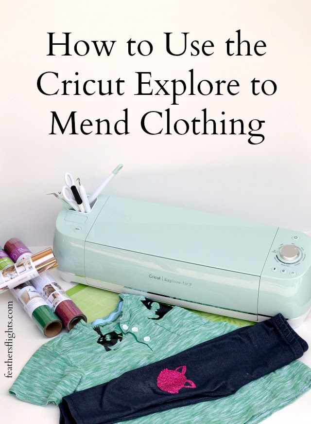 How to Use the Cricut Explore to Mend Clothing + GIVEAWAY