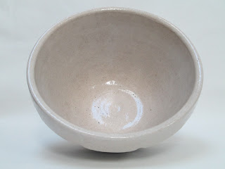Large Double Blue Ringed Mixing Bowl Inside View
