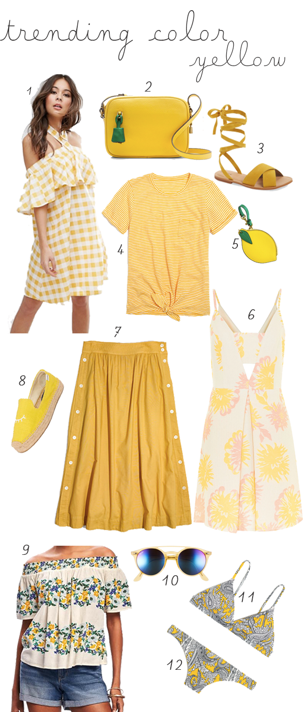 Spring and Summer Must-Haves in Yellow
