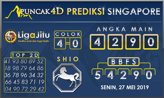 PREDIKSI TOGEL SINGAPORE PUNCAK4D 27 MEI 2019