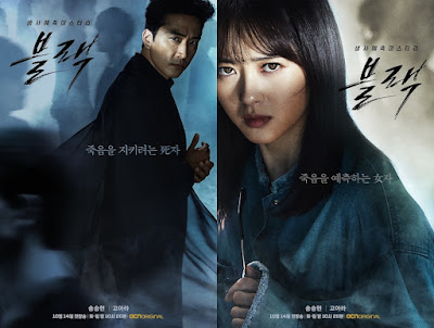 Drama Korea Black, Sinopsis, Pelakon, Korean Drama Black Cast, Song Seung Hoon, Go Ara, Lee El, Kim Dong Joon, Ki Won Hae. Review By Miss Banu,