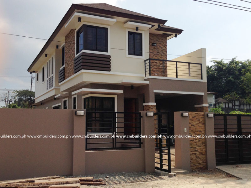 Low Cost Two Storey House Design: 50 Low Cost Two Story House Designs For Small Land Area