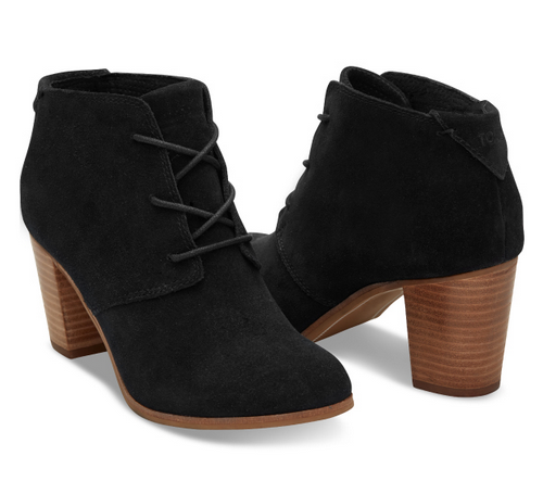 Black Suede Lunatas Lace-Up