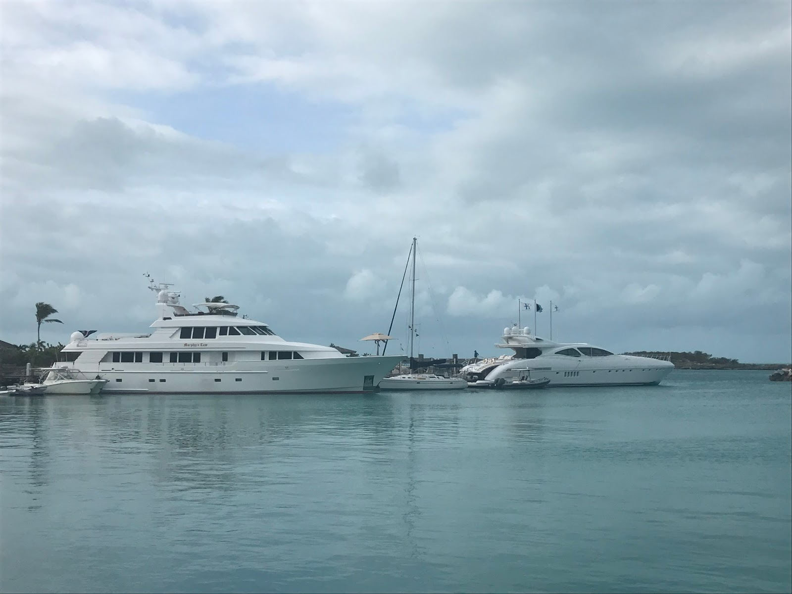 Highbourne cay to shroud cay we are the biggest sailboat at the fuel dock just a matter of perspective sciox Images