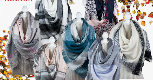 New Blanket Scarves are in now at Simi Accessories Corp !!