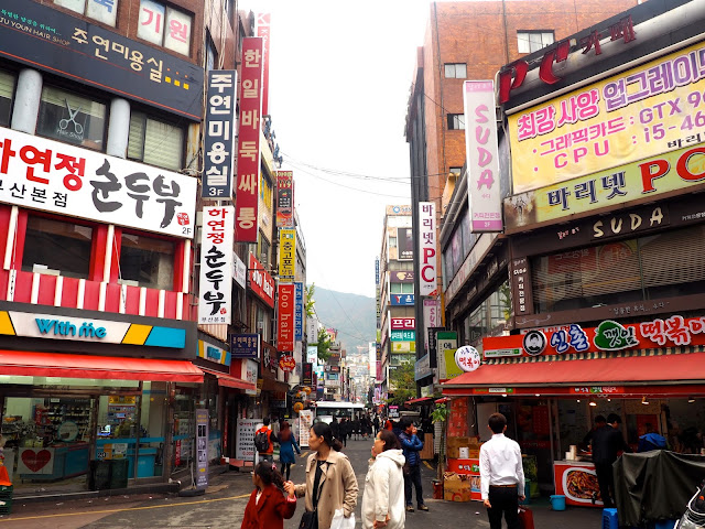 Small side streets of Seomyeon, Busan, South Korea
