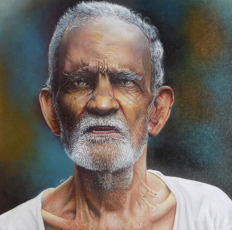 Portrait Of A Grandfather - Arun Sivaprasad