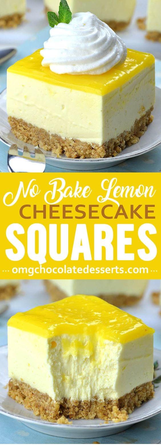 No Bake Lemon Cheesecake Bars
