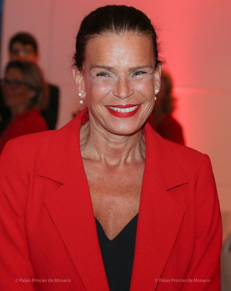 Princess Stephanie attended an event held at Monaco Yacht Club in order to support Saving Women's Hearts by Women Leaders of Monaco