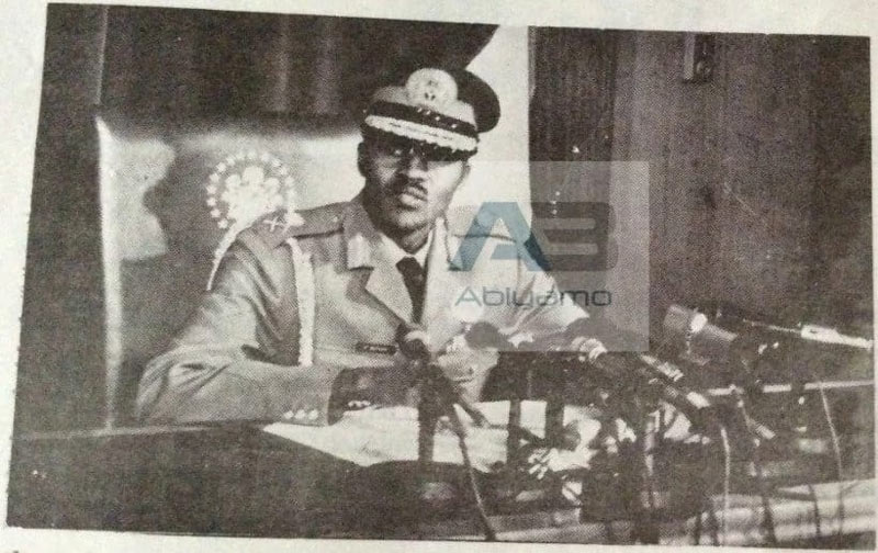 See 1984 photo of Buhari as military dictator and what he said