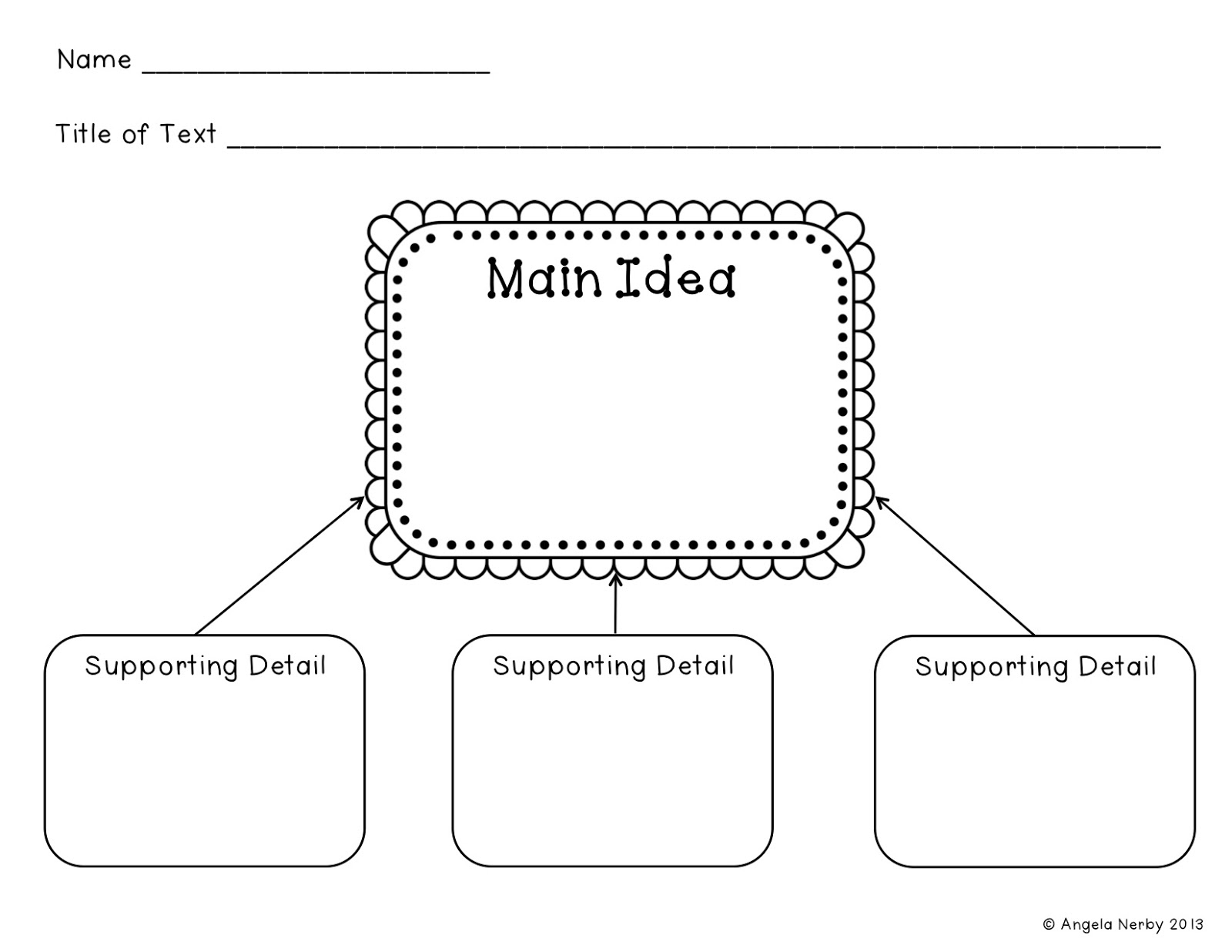 Worksheet Main Idea Nonfiction