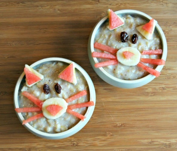 Oatmeal kitty snack for kids