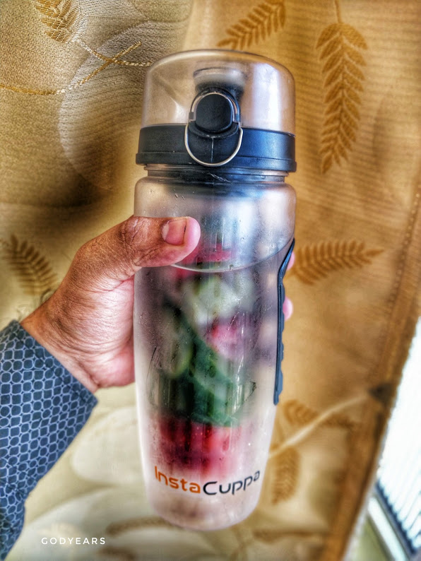 Strawberry + Cucumber infused water