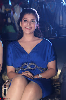 Mannara Chopra in Short Blue Dress at Rogue Movie Teaser Launch 1st March 2017 016.JPG