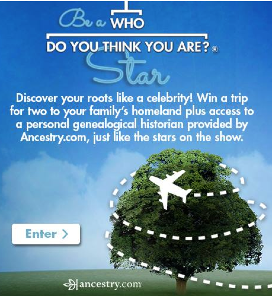 Enter the WDYTYA Contest to Win A Trip & Research