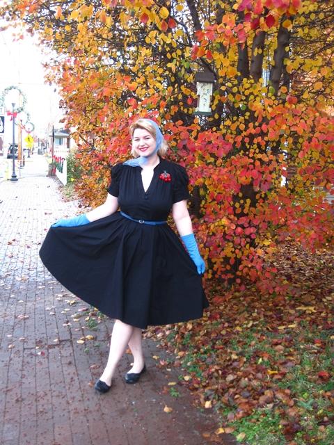 1950s style full skirt plus size dress from Eshakti