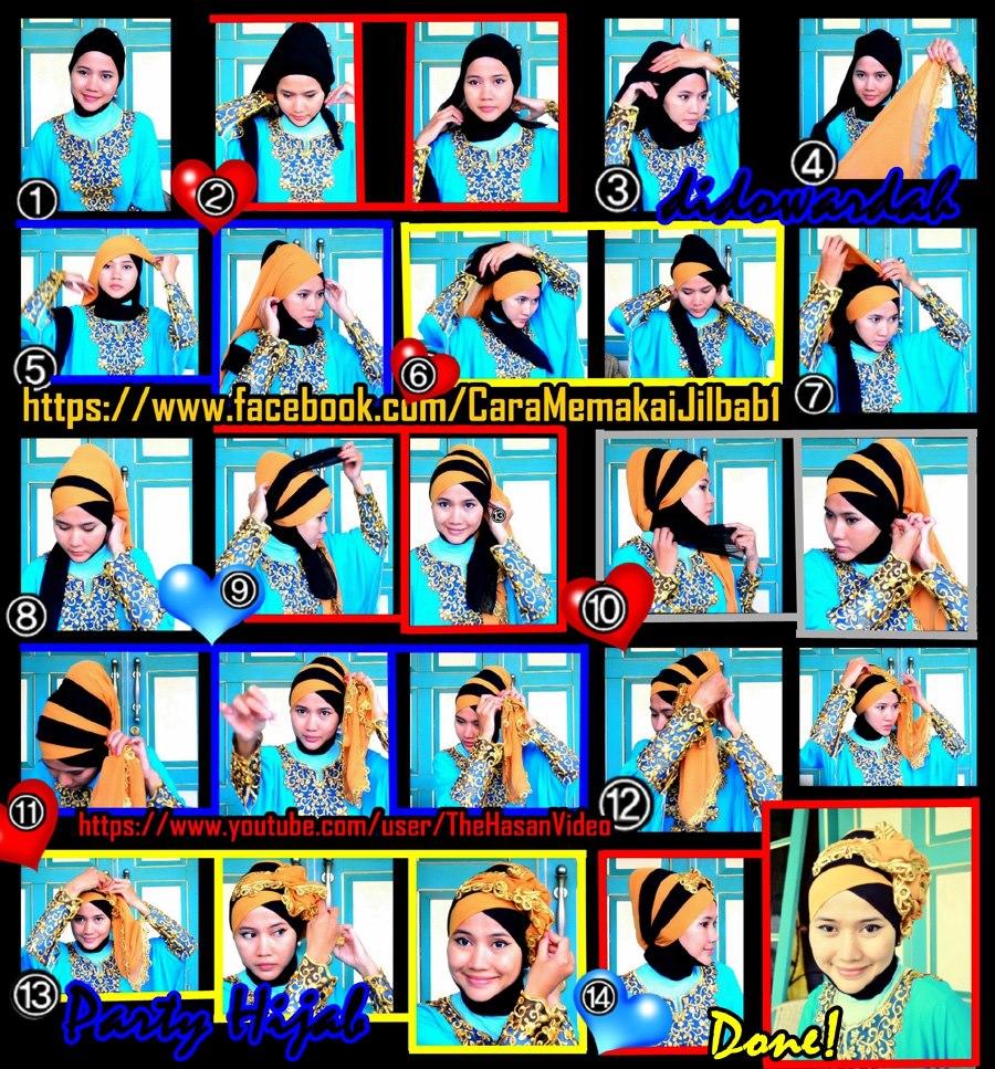 30 Gambar Menarik Tutorial Hijab Paris Warna Hitam Paling Baru