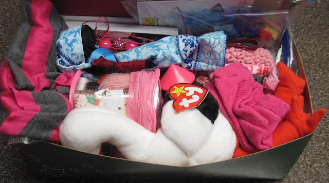 OCC Shoebox packing in progress.