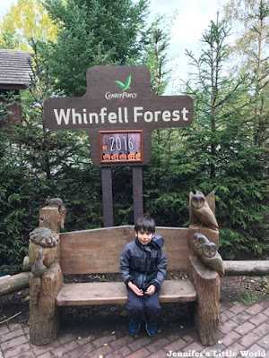 Center Parcs Whinfell Forest sign