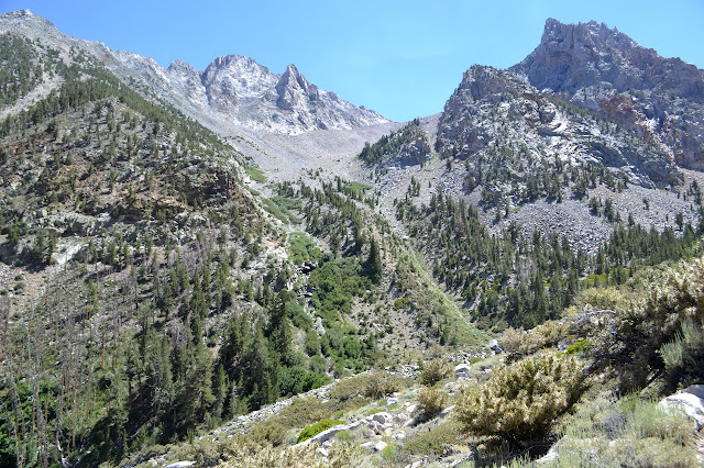 scree slope to Diversion Pass