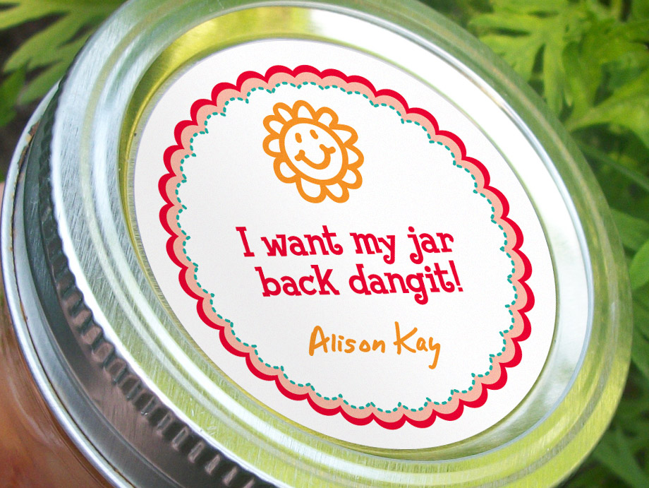 Colorful Adhesive Canning Jar Labels: Custom Canning Jar Labels