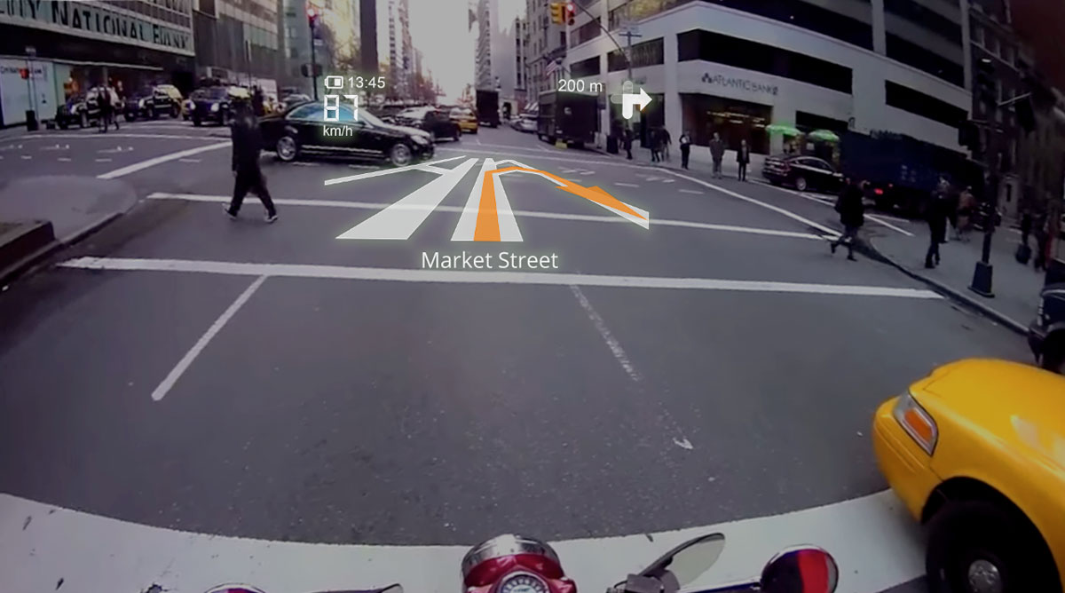 Pandangan dari helm LiveMap