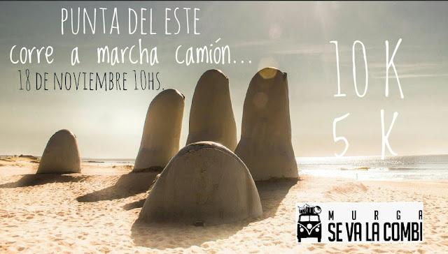 10k y 5k Punta del Este corre a marcha camión de la murga Se va la combi (Maldonado, 18/nov/2017)