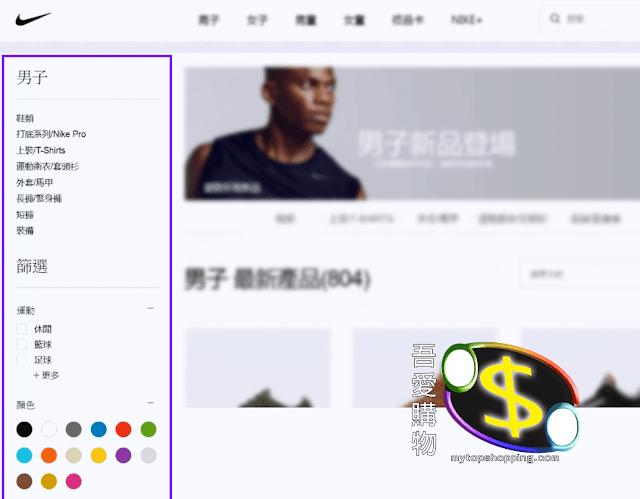 Nike HK 分類連結