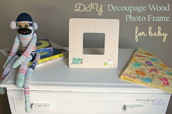 diy decoupage photo frame baby