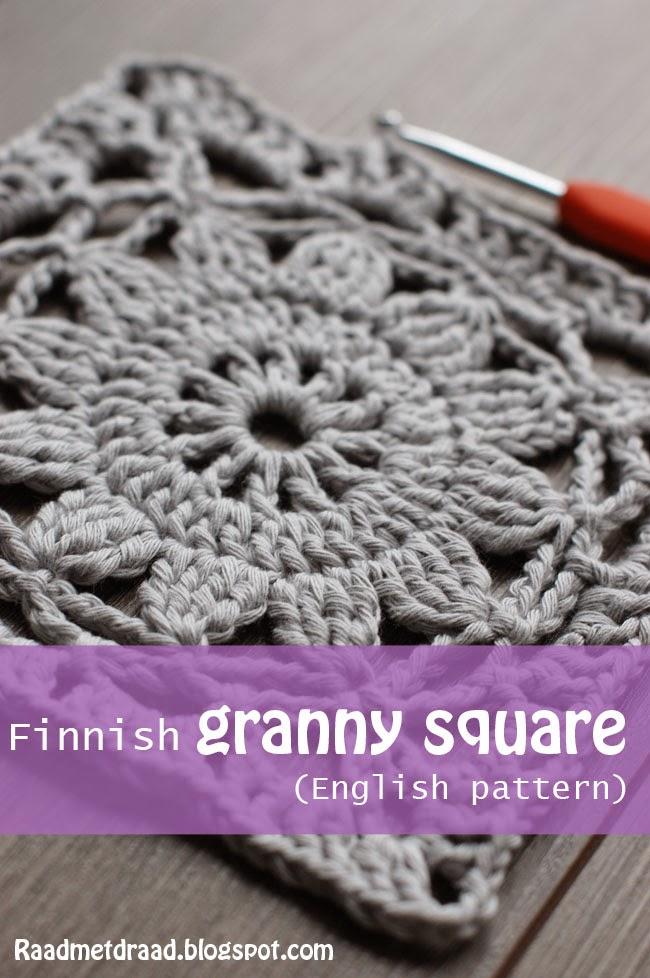 Raad Met Draad Finnish Granny Square Pattern In English
