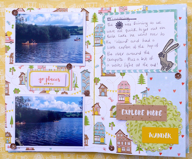 Sunshine Travel Journal by Katherine Sutton using BoBunny Weekend Adventures