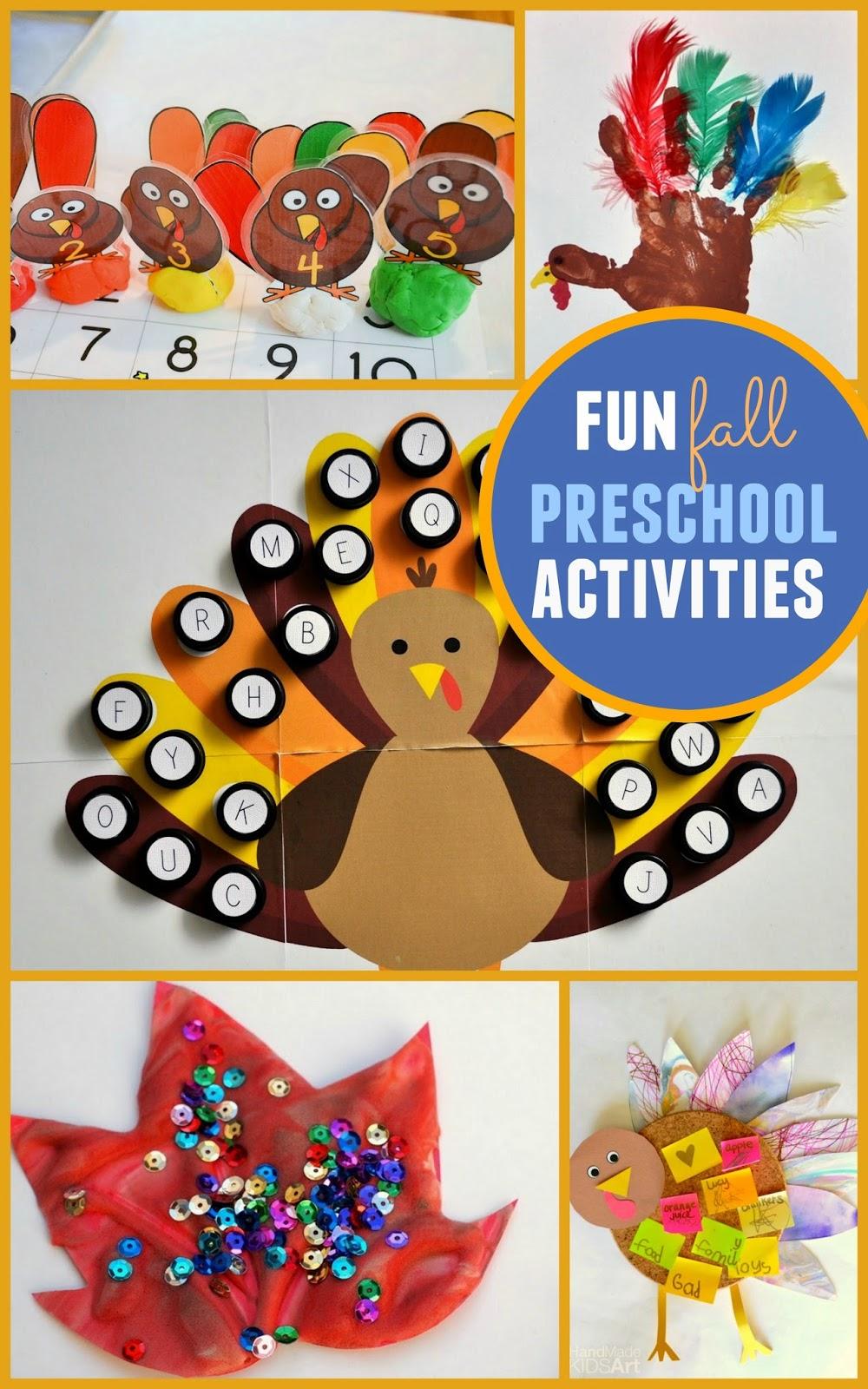 5 Fun Fall and Thanksgiving Preschool Activties | Pink ...