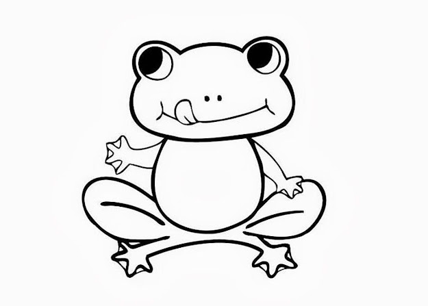 Cool Coloring Page Frog At Frog Coloring Pages