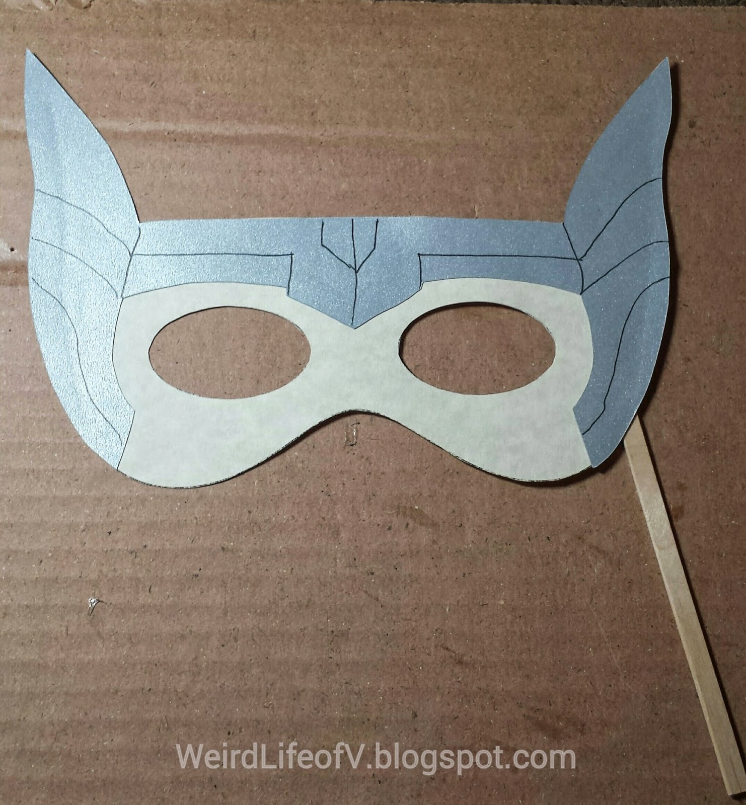 DIY: Thor paper masquerade style mask