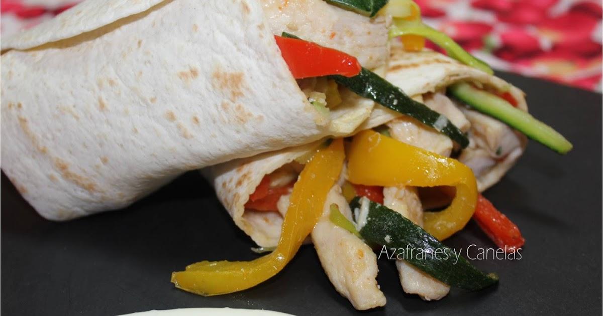 Wrap de pollo y verduras Asaltablogs Invisible