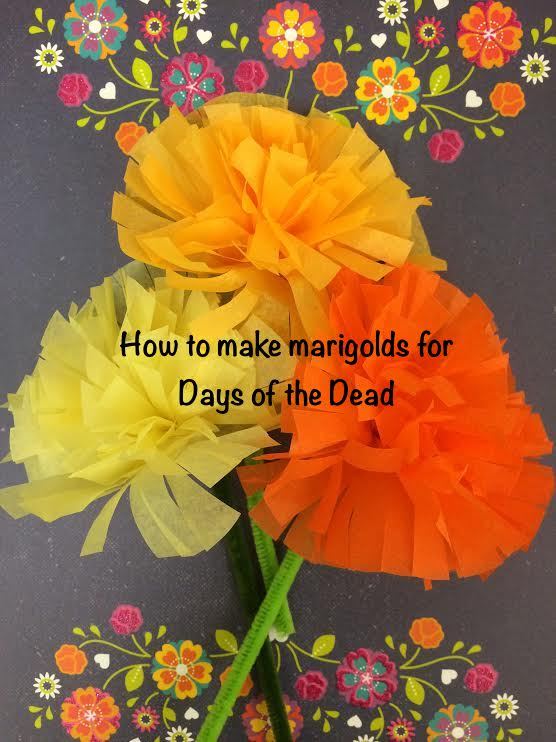 Making Paper Marigolds Step By Step In Your Classroom Mundo De Pepita