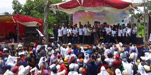 Ribuan Petani Hutan Lamongan Deklarasi Dukung Jokowi-Ma'ruf Amin