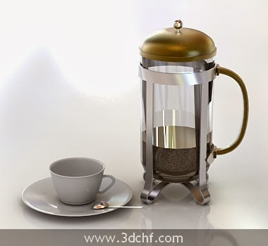 tea set 3d model download