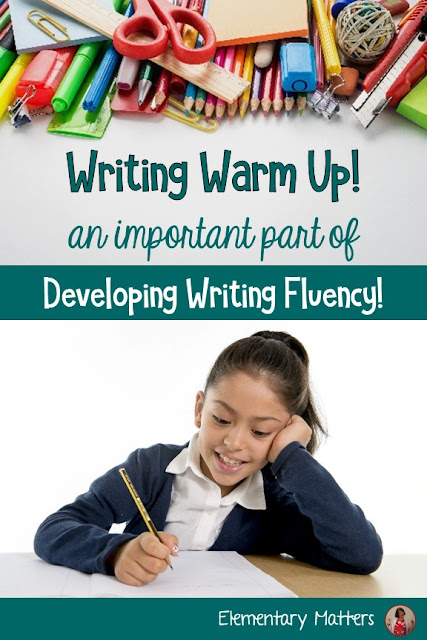 Developing Writing Fluency: Do your students have great ideas, but struggle to write down those ideas? A writing warm up might help!