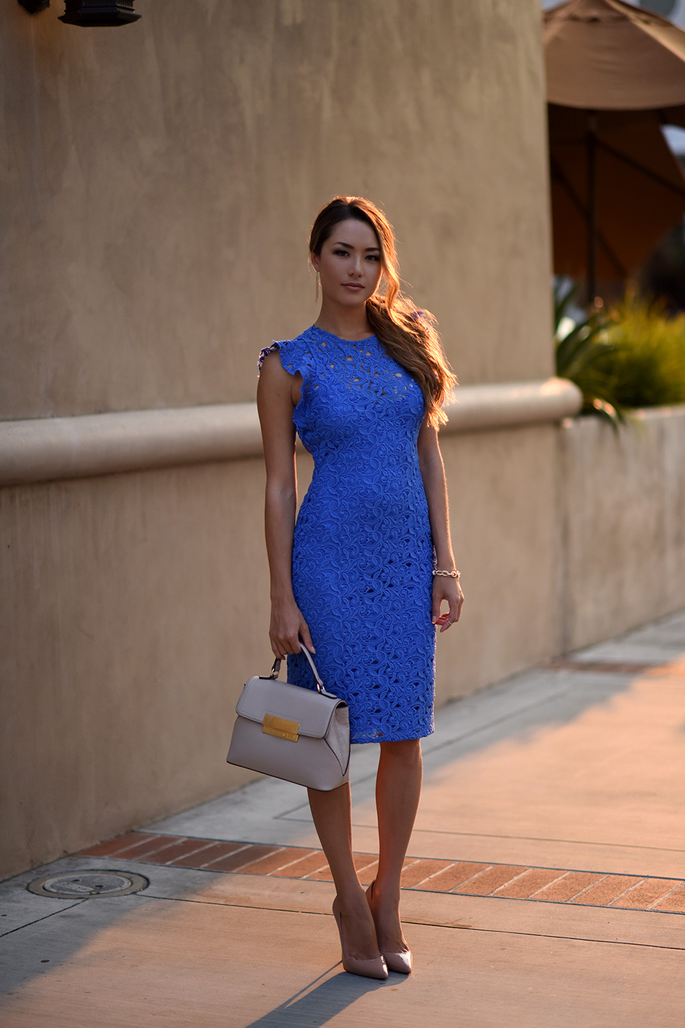 blue lace zara dress  hapa time